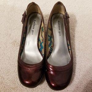 Madden Girl Patent Round Toe Kitten Heels